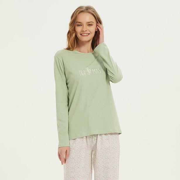 Oferta de Pijama largo algodón Abril rosa por 10,99€