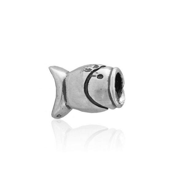 Oferta de Abalorio plata pez por 9€