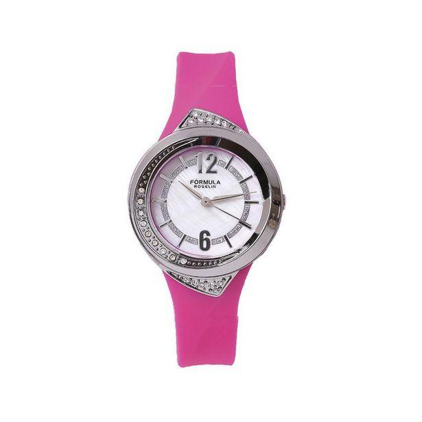 Oferta de Reloj mujer caucho y circonitas Fórmula Roselin por 12€