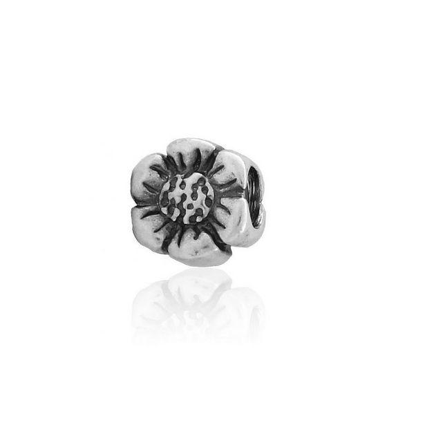 Oferta de Abalorio plata flor por 9€