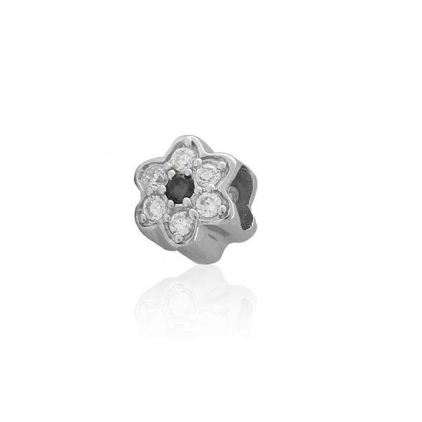 Oferta de Abalorio plata flor por 12€