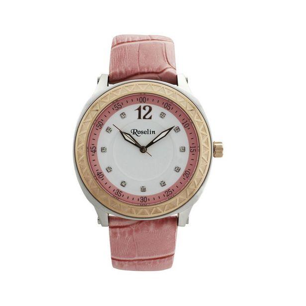 Oferta de Reloj mujer piel y acero Roselin Watches por 59€