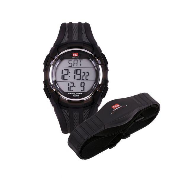 Oferta de Reloj unisex digital pulsómetro RS Roslain Sport por 19€