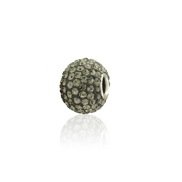 Oferta de Abalorio plata piedras grises por 9€
