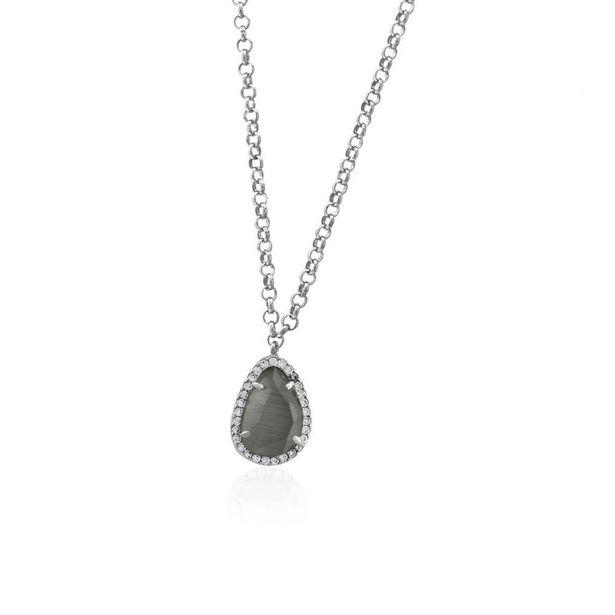 Oferta de Gargantilla plata piedra lágrima Roselin por 14,7€