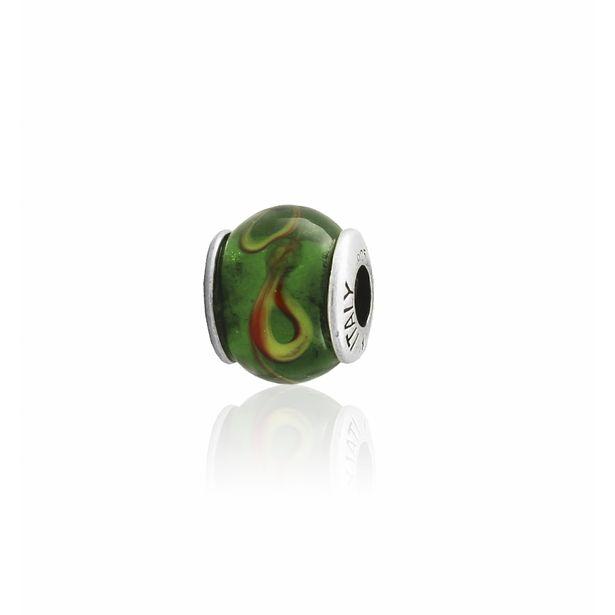 Oferta de Abalorio plata piedra verde por 9€