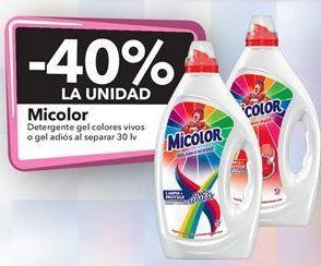 Oferta de Micolor Detergente gel colores vivos o gel adiós al separar 30 lv por