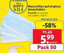 Oferta de Mascarilla quirugicas desechable por 5,99€