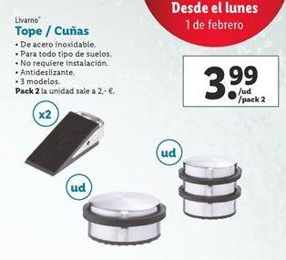 Oferta de Tope/cuñas Livarno por 3,99€