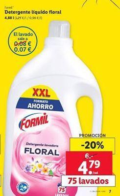 Oferta de Detergente lavavajillas Formil por 4,79€