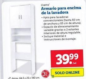 Oferta de Armarios para encima de la lavadora  Livarno por 39,99€