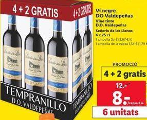 Oferta de Vino tinto Señorío de los Llanos por 8€