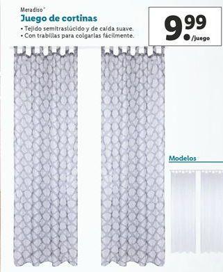 Oferta de Juego de cortinas Meradiso por 9,99€