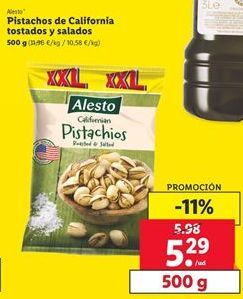 Oferta de Pistachos Alesto por 5,29€