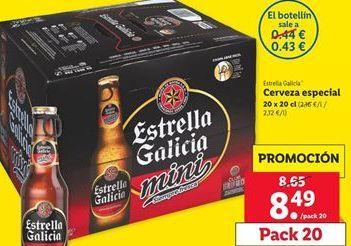 Oferta de Cerveza Estrella Galicia por 8,49€