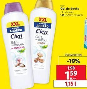 Oferta de Gel de baño Cien por 1,59€