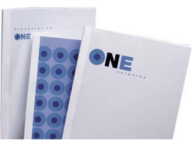 Oferta de Cubiertas para Encuadernación GBC A4 PVC Blanco  por 44,89€