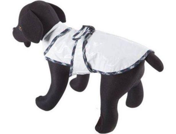 Oferta de Abrigo de Lluvia para perros ARPPE Waterproof White Xs por 15,31€