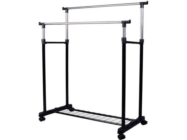 Oferta de Percha HOMCOM 03-0011 Negro (Acero Inoxidable - 80 x 43 x 155 cm) por 21,99€