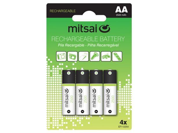 Oferta de Pilas recargables MITSAI HR6 AA  por 8,97€