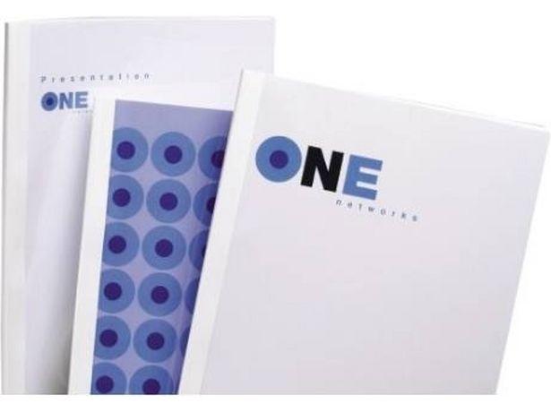Oferta de Cubiertas para Encuadernación GBC Thermabind 10 mm Blanco (Pack 100) por 61,16€