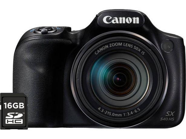 Oferta de Cámara Bridge CANON Powershot SX540 HS + 16 GB  por 502,8€