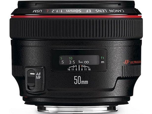 Oferta de Objetivo CANON Est Ef 50 mm 1.2L Usm (Encaje: Canon EF - Apertura: f/1.2 - f/16) por 1129,23€