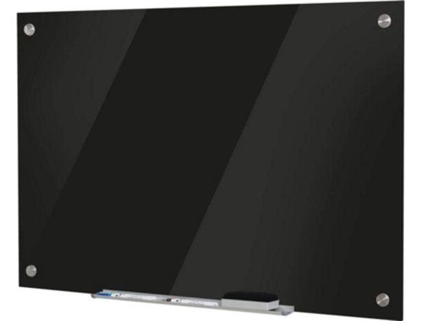 Oferta de Pizarra Magnética VINSETTO (90 x 60 x 0,45 cm - Cristal - Negro - Magnético: Sí) por 48,99€