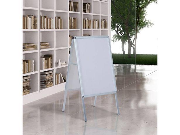 Oferta de Pizarra Blanca HOMCOM Doble (Blanco - 64x8x121cm - Aluminio) por 45,99€