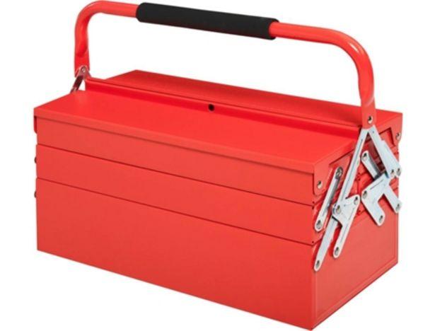 Oferta de Caja de Herramientas DURHAND B20-079RD con 5 Compartimentos con Asa (Rojo - 45 X 22,5 X 34,5 cm) por 31,99€
