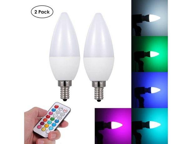 Oferta de Lámpara con Mando a Distancia ANSELF A C 85-265 V 3W LED RGB E12 2 Blanco por 16,59€