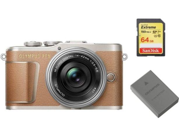 Oferta de Kit Cámara Mirrorless, Objectivo, Tarjeta SD 64 GB y Batería OLYMPUS E-PL9  por 571,68€