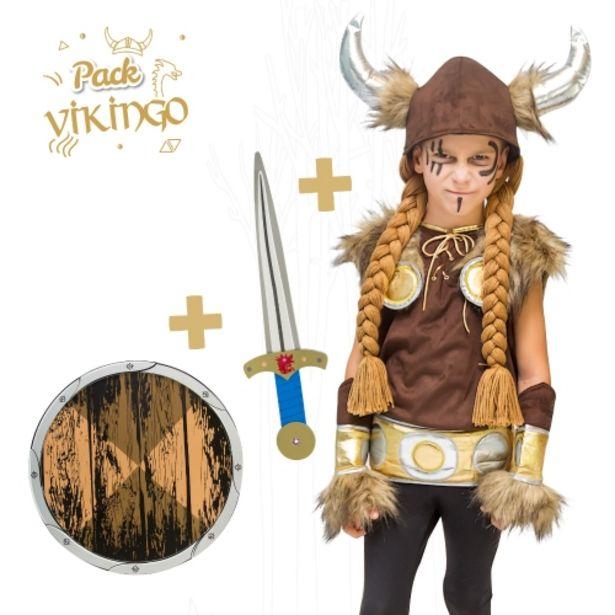 Oferta de Disfraz vikingo (6-7 años) + espada + escudo por 29,95€