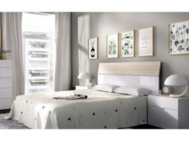 Oferta de Dormitorio de Matrimonio Mod. 03K2053286 blanco brillo/natural por 145€