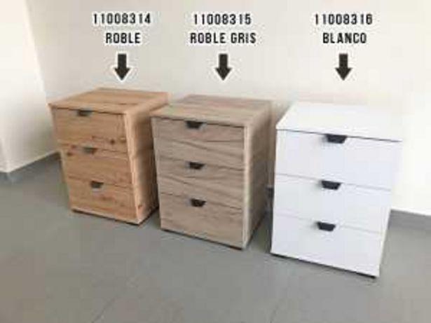 Oferta de Mesita 3 cajones mod. 11008316 «DUERO 3F» blanco por 79€