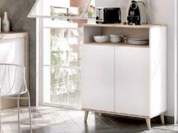 Oferta de Mueble auxiliar 2P WOK K6014386 blanco-natural por 105€