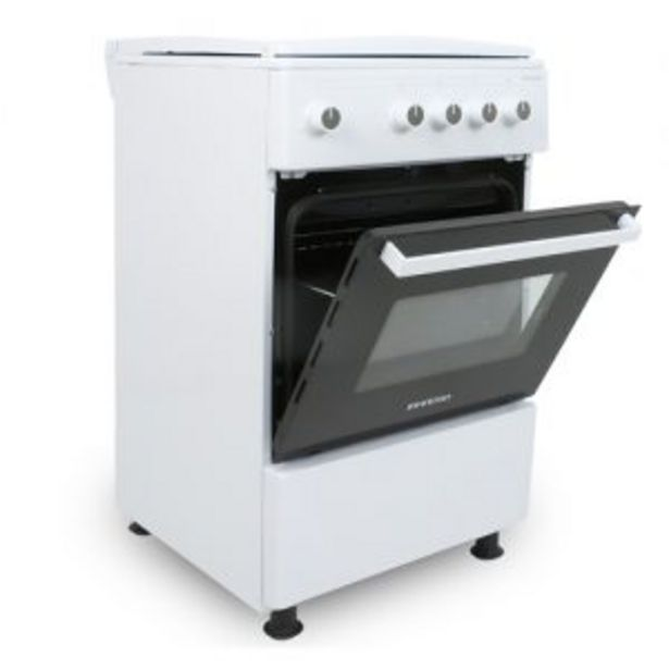 Oferta de Cocina gas 3 fuegos 85x50x50 Infiniton CC53GBL blanca gas butano/natural por 212€