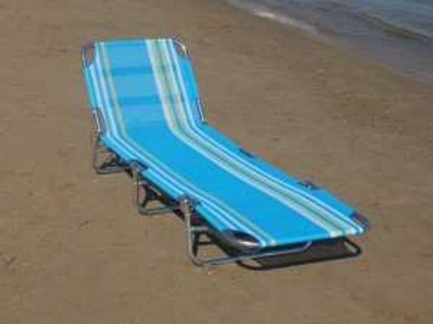 Oferta de Tumbona Plegable Playa Mod. W0004 rayas azules por 39€