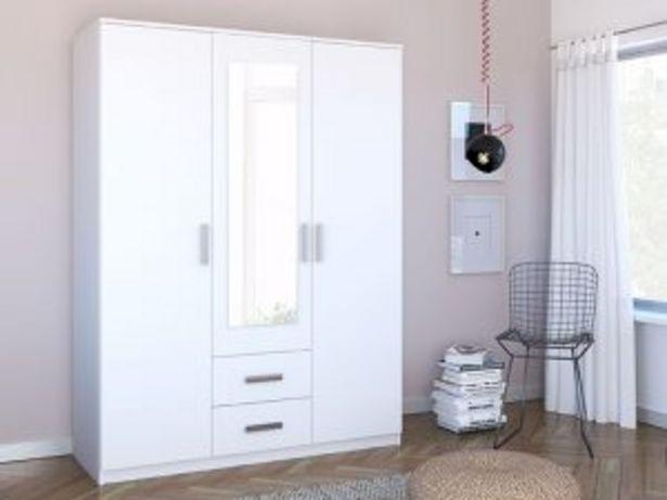 Oferta de Armario 3P 2C «SARAVENA» 5002650 blanco por 275€