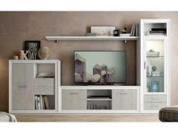 Oferta de Mueble Salón TV Apilable «682» blanco y pozzolana por 499€