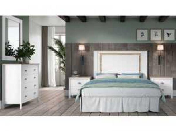 Oferta de Dormitorio de Matrimonio Mod. BDK-01 blanco y roble por 590€
