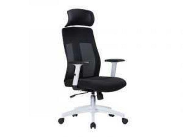Oferta de Sillón de oficina «W-175AC» P.BLANCO / TELA NEGRO por 169€