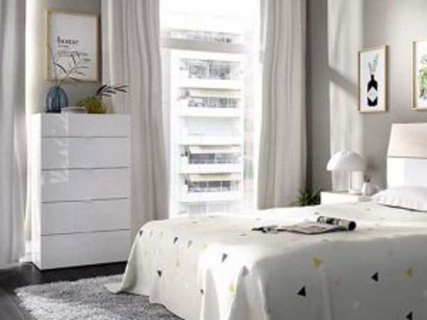 Oferta de Cómoda 5C GIA «03K2083286» blanco brillo/natural por 139€