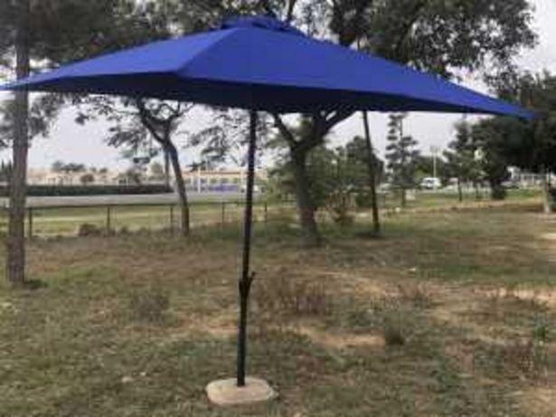 Oferta de Parasol de acero mod. SL-UM010 3×3 mt azul por 49€