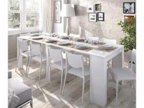 Oferta de Mesa extensible KIONA «03K52732» blanco brillo por 229€