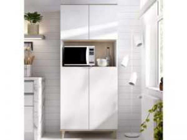 Oferta de Mueble auxiliar 4P WOK K6044386 blanco-natural por 188€