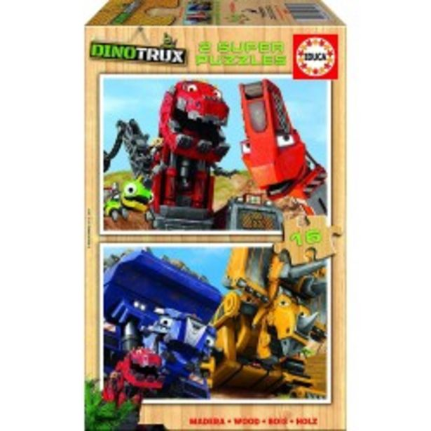 Oferta de  Puzzle madera Dinotrux - 2x16 educa (17270)  por 5,99€