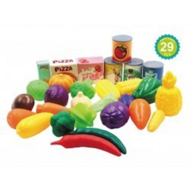 Oferta de  Juego verduras y frutas 29 pcs josbertoys...  por 6,99€