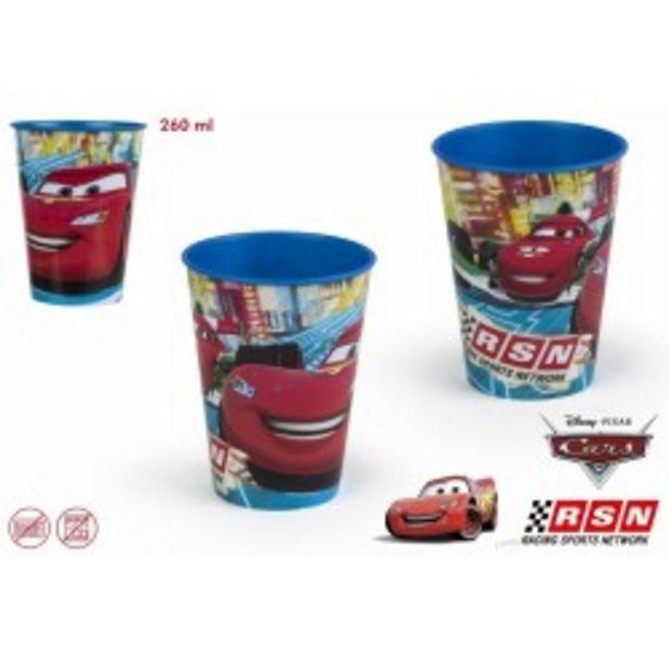Oferta de  Cars vaso 260 ml plastico  por 1,99€