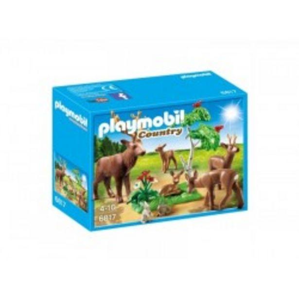 Oferta de  Playmobil famila de ciervos  por 13,5€